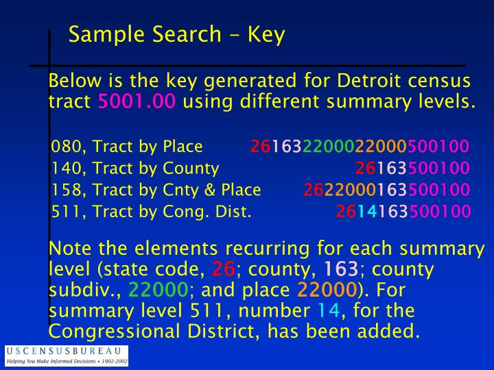 Sample Search – Key