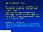 sample search key1