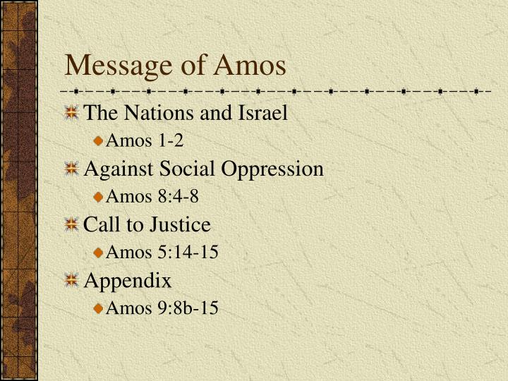 Message of Amos
