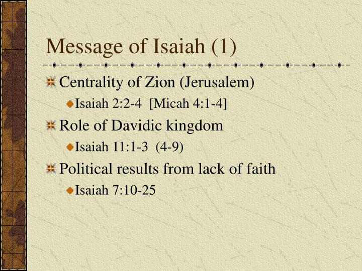 Message of Isaiah (1)
