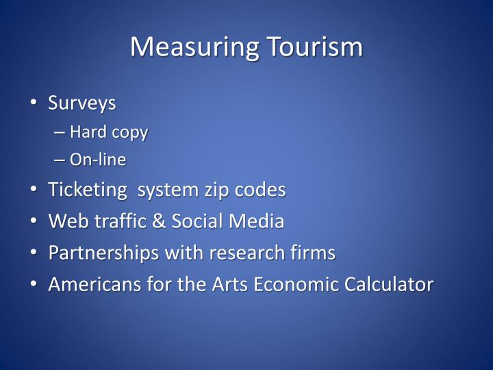 Measuring Tourism