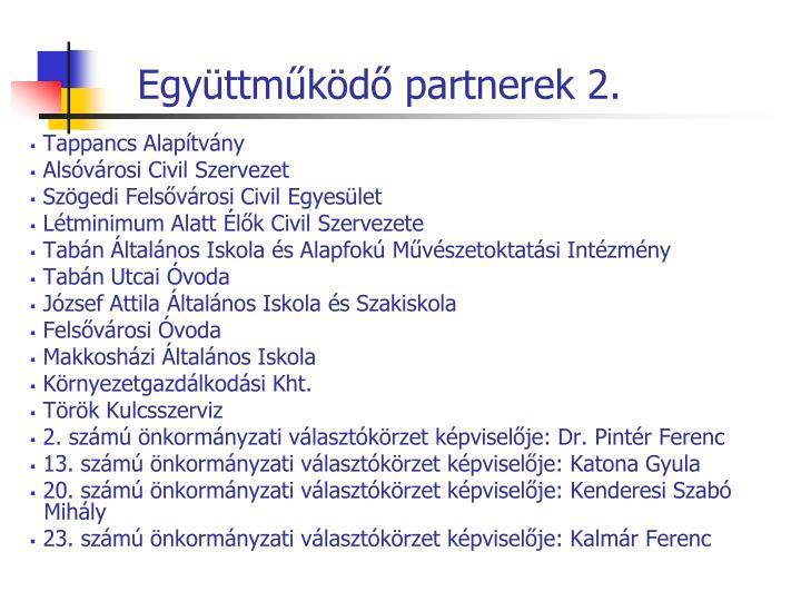 Együttműködő partnerek 2.