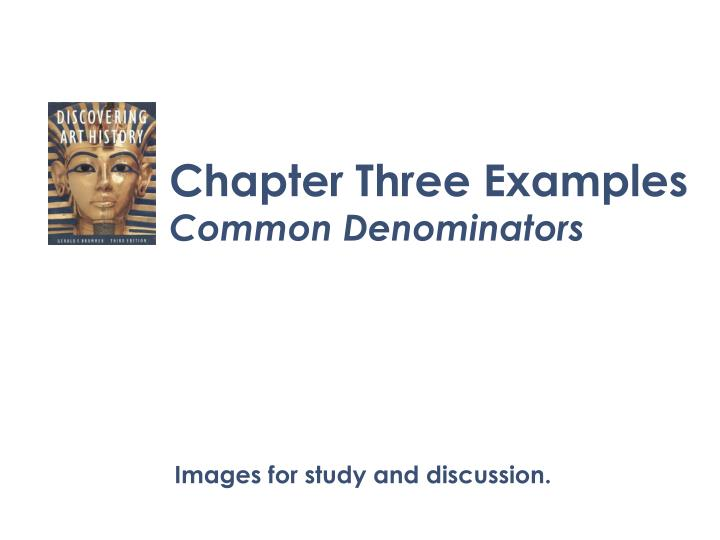 Chapter Three Examples
