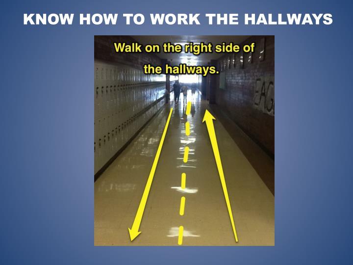 Know how to Work the Hallways