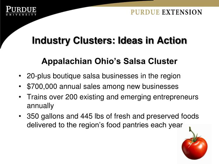 Industry Clusters: Ideas in Action