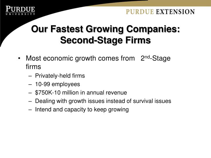 Our Fastest Growing Companies: