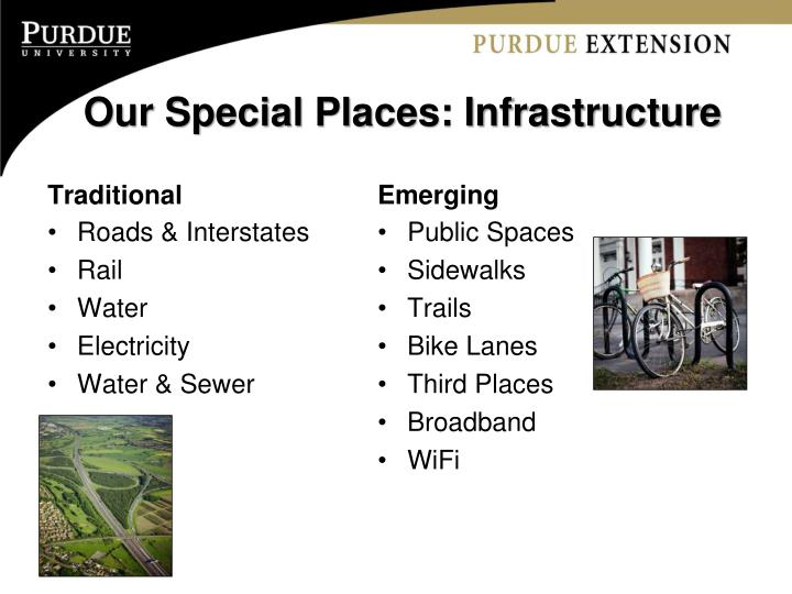Our Special Places: Infrastructure