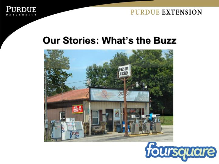 Our Stories: What's the Buzz