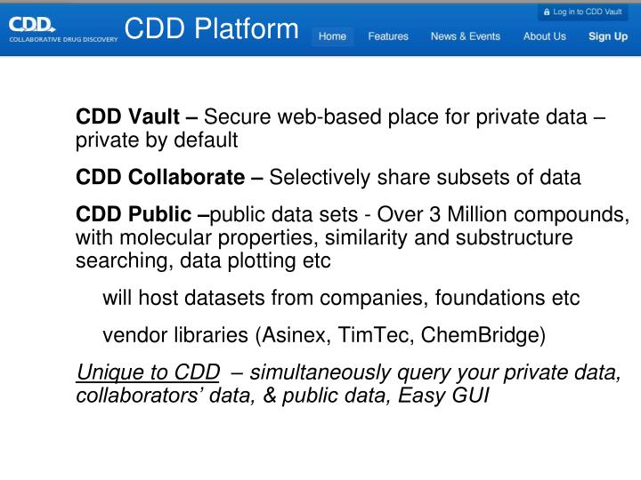 CDD Platform