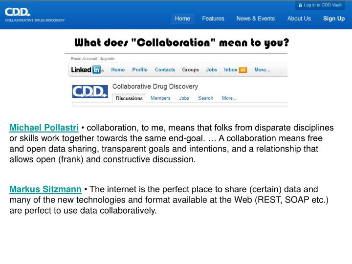 """What does """"Collaboration"""" mean to you?"""