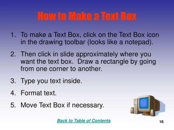 How to Make a Text Box
