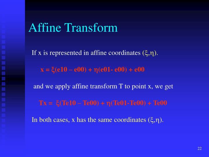 Affine Transform