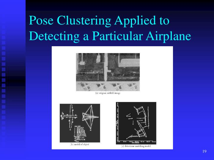 Pose Clustering Applied to Detecting a Particular Airplane