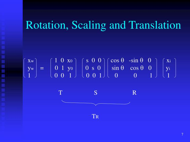 Rotation, Scaling and Translation