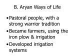 b aryan ways of life