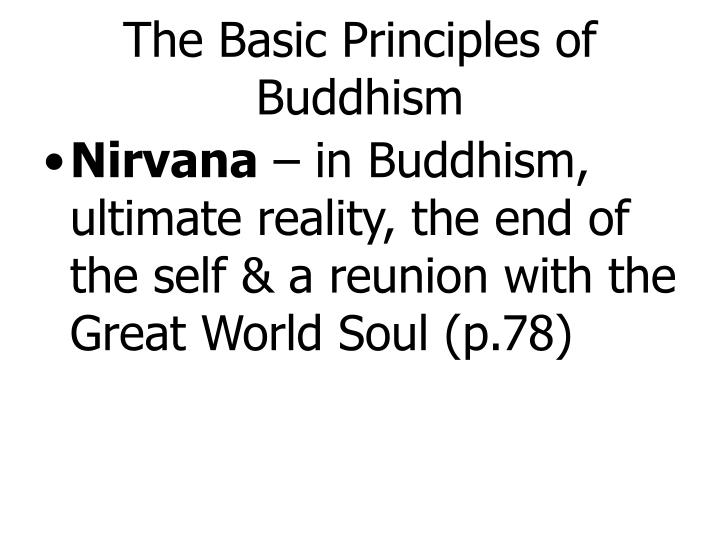 The Basic Principles of Buddhism