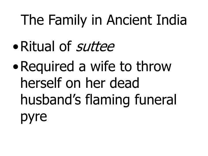 The Family in Ancient India