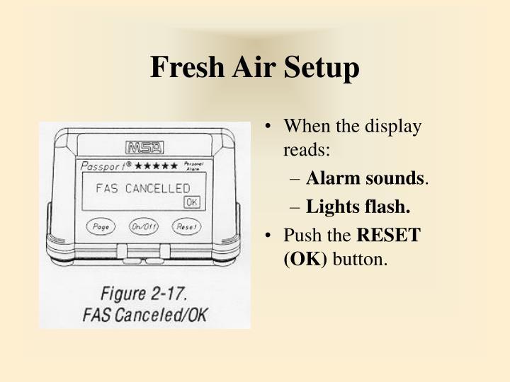 Fresh Air Setup