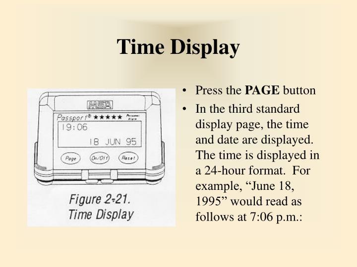 Time Display