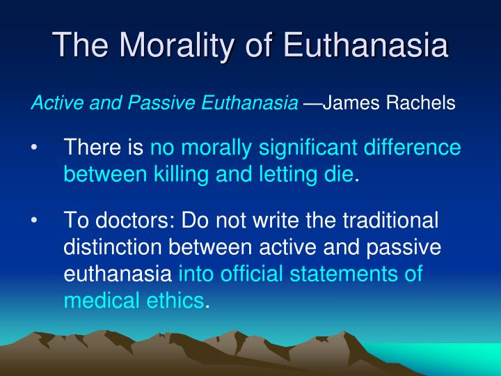 a review of j gay williams the wrongfulness of euthanasia Medical decisions concerning the end oflife in the netherlands and in australia i argue that these two studies have robbed the slippery slope of the source of its power - its intuitive obviousness finally ipropose that, contrary to the warnings of the slippery slope, the available evidence suggests that the legalisation of.
