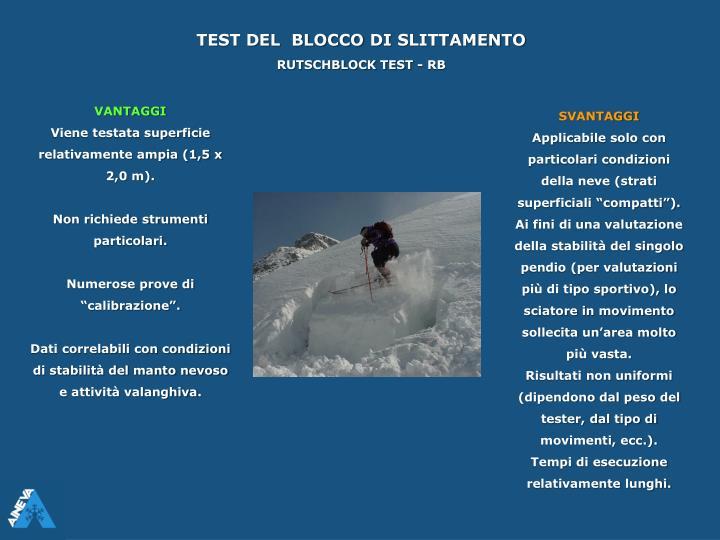 TEST DEL  BLOCCO