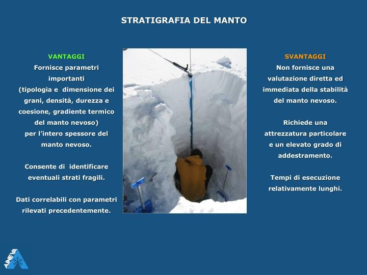 STRATIGRAFIA DEL MANTO