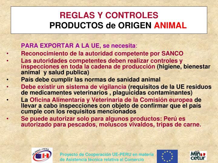 REGLAS Y CONTROLES