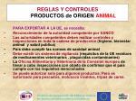 reglas y controles productos de origen animal