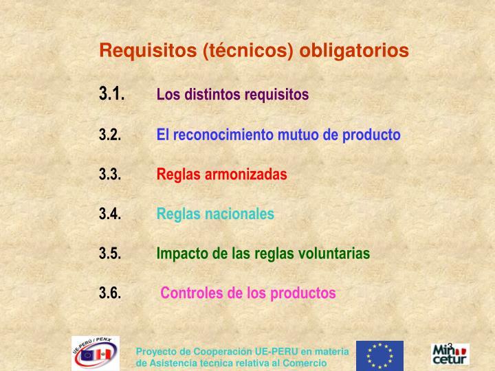 Requisitos (técnicos) obligatorios