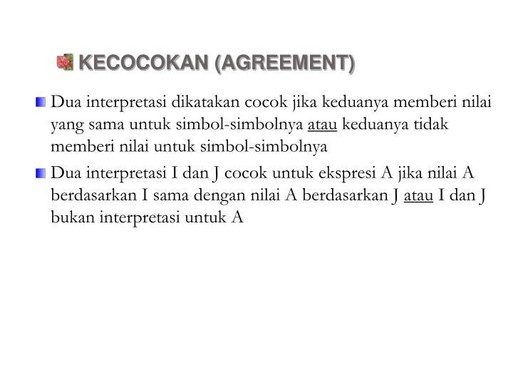 KECOCOKAN (AGREEMENT)