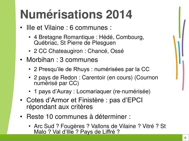 Numérisations 2014