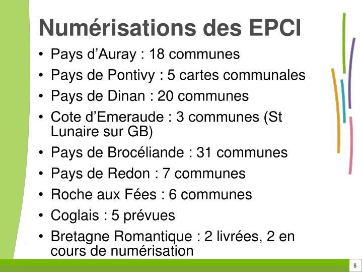 Numérisations des EPCI