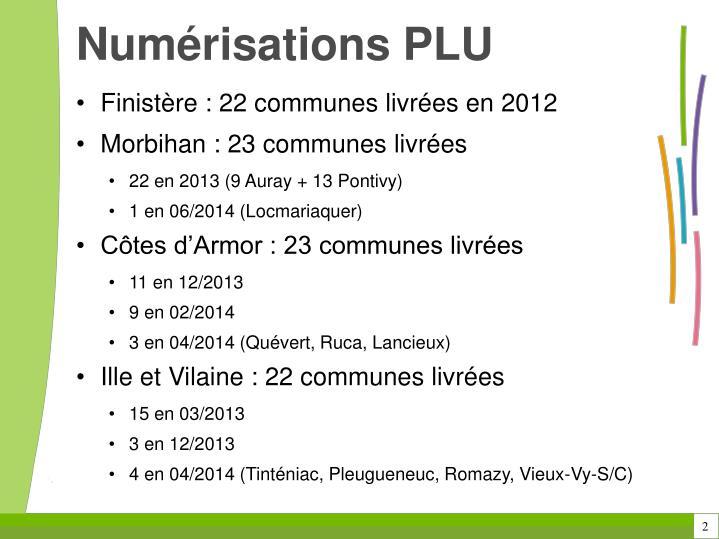 Numérisations PLU