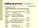 adding up poverty example 2