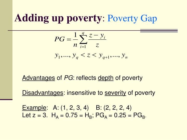 Adding up poverty