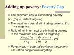 adding up poverty poverty gap2