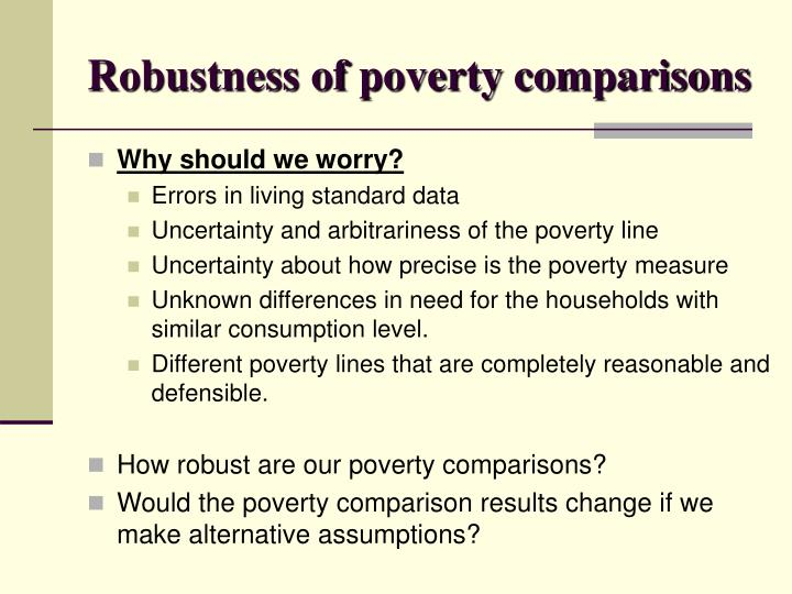 Robustness of poverty comparisons