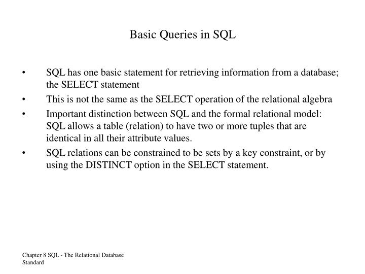 Basic Queries in SQL
