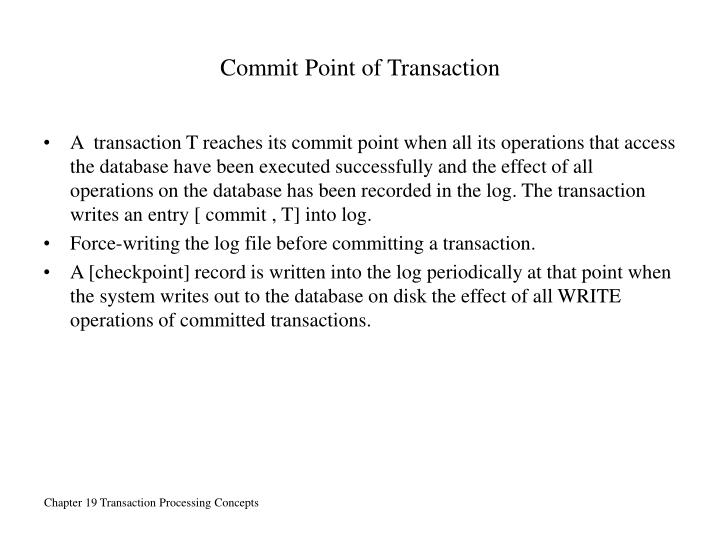 Commit Point of Transaction