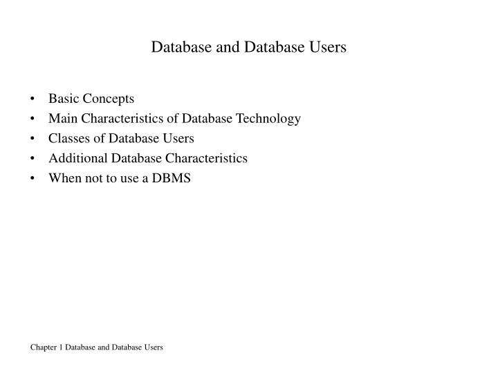 Database and Database Users