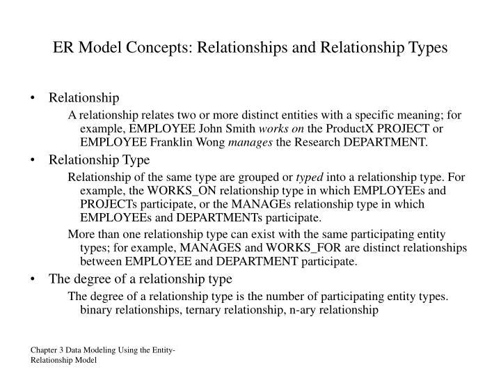 ER Model Concepts: Relationships and Relationship Types