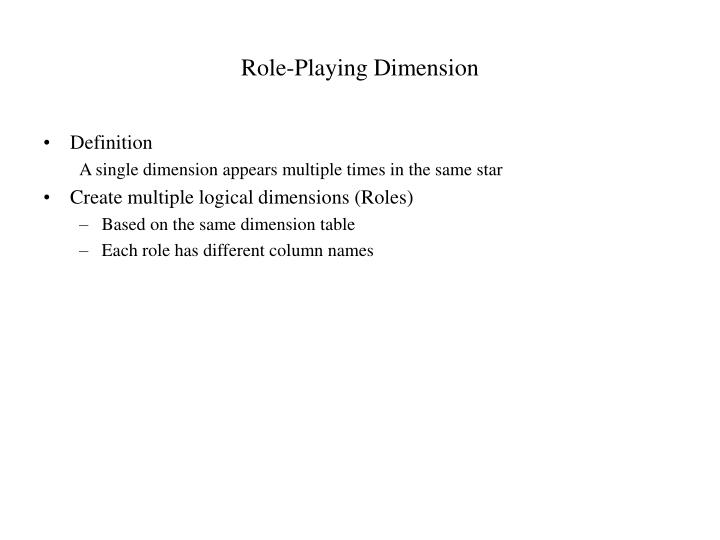 Role-Playing Dimension