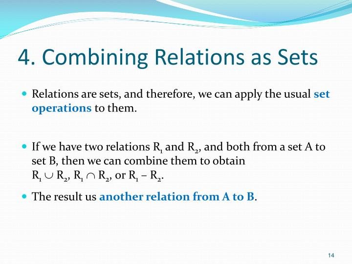 4. Combining Relations as Sets