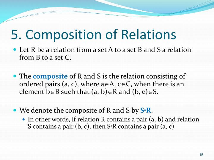 5. Composition of Relations