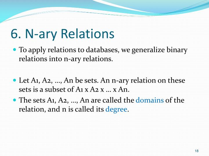 6. N-ary Relations