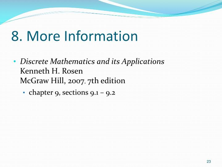 8. More Information