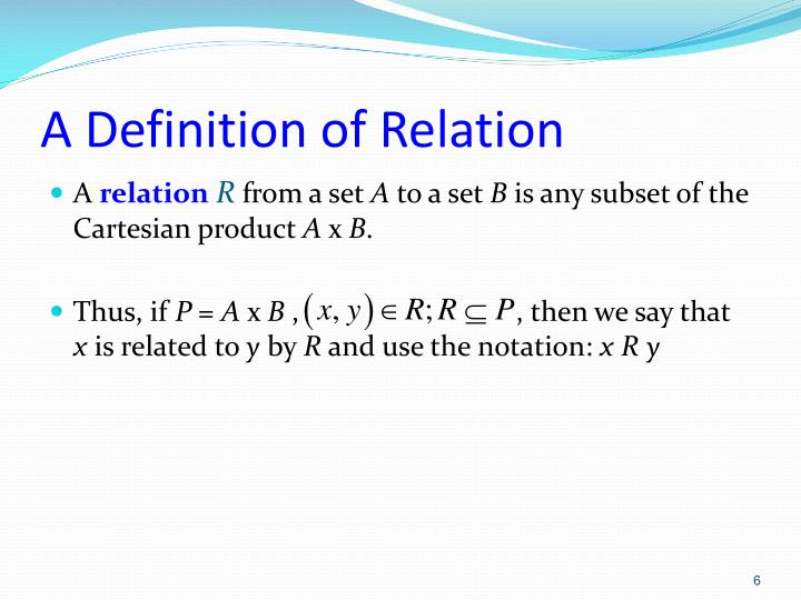 A Definition of Relation