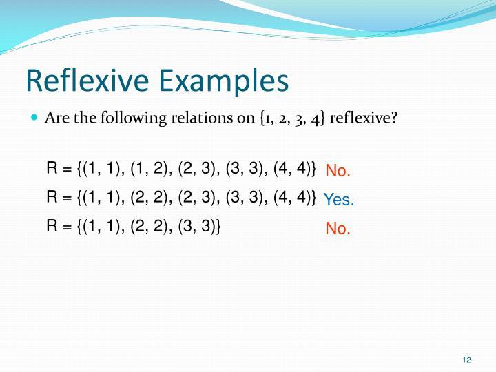 Reflexive Examples