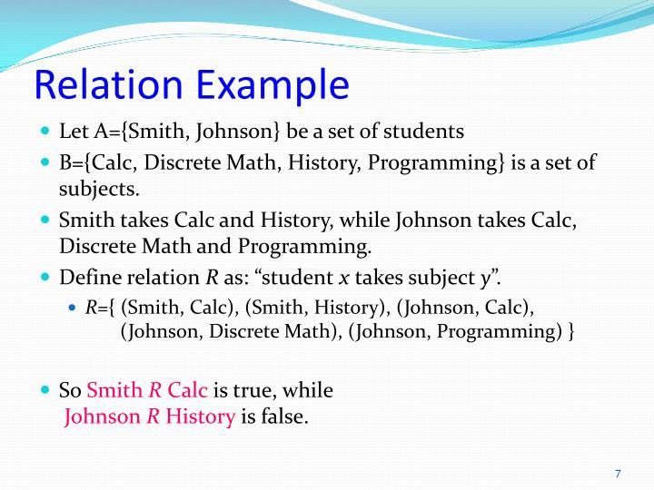 Relation Example