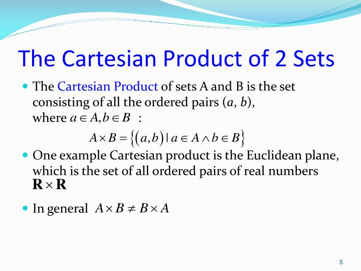 The Cartesian Product of 2 Sets